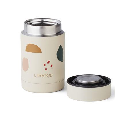 Liewood Nadja Food Jar Geometric Foggy Mix