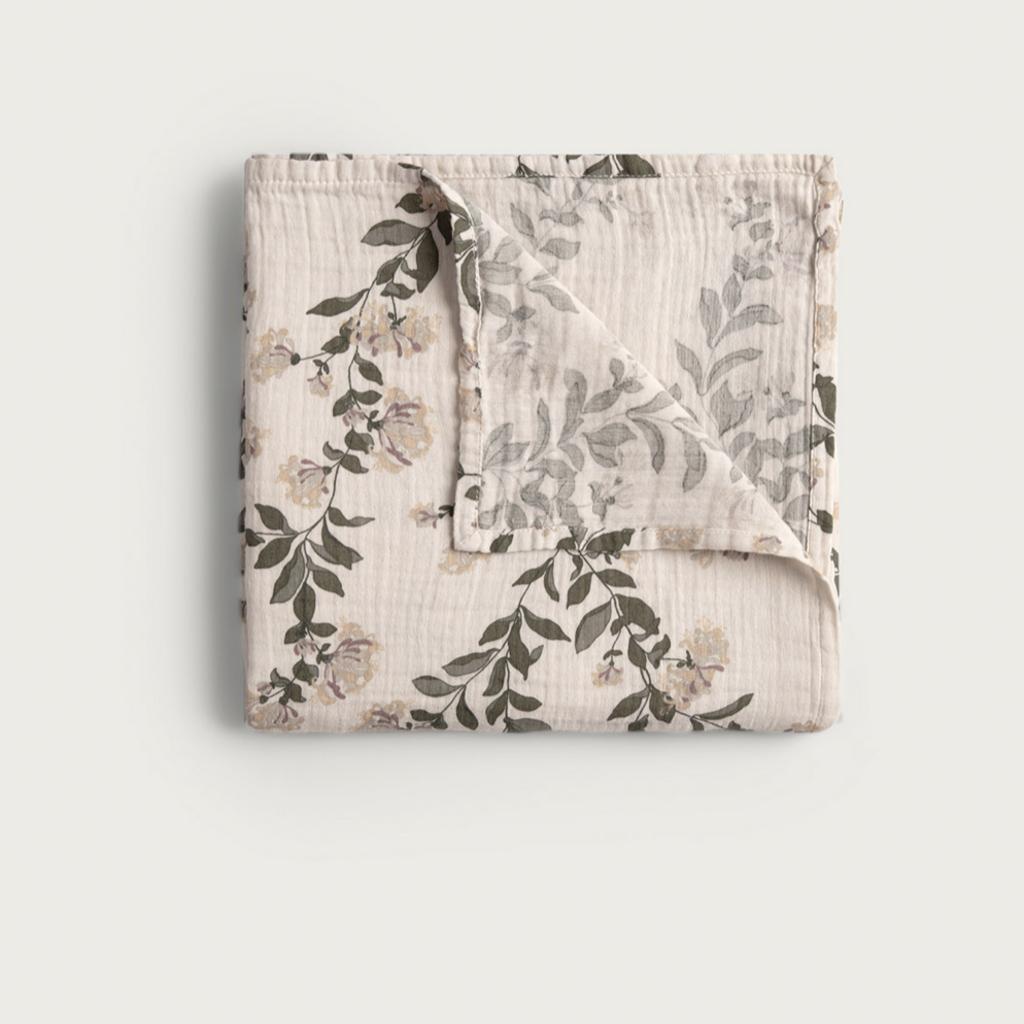 Garbo&Friends Muslin Swaddle Blanket Honeysuckle