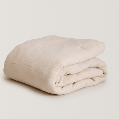 Garbo&Friends Muslin Filled Blanket Eggshell