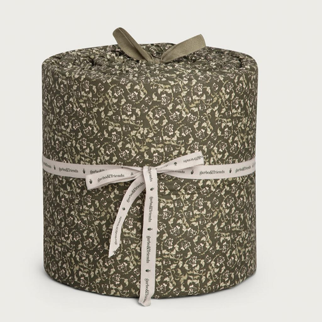 Garbo&Friends Crib Bumper Floral Moss