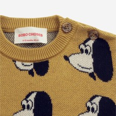 Bobo Choses Doggie All Over knitted jumper