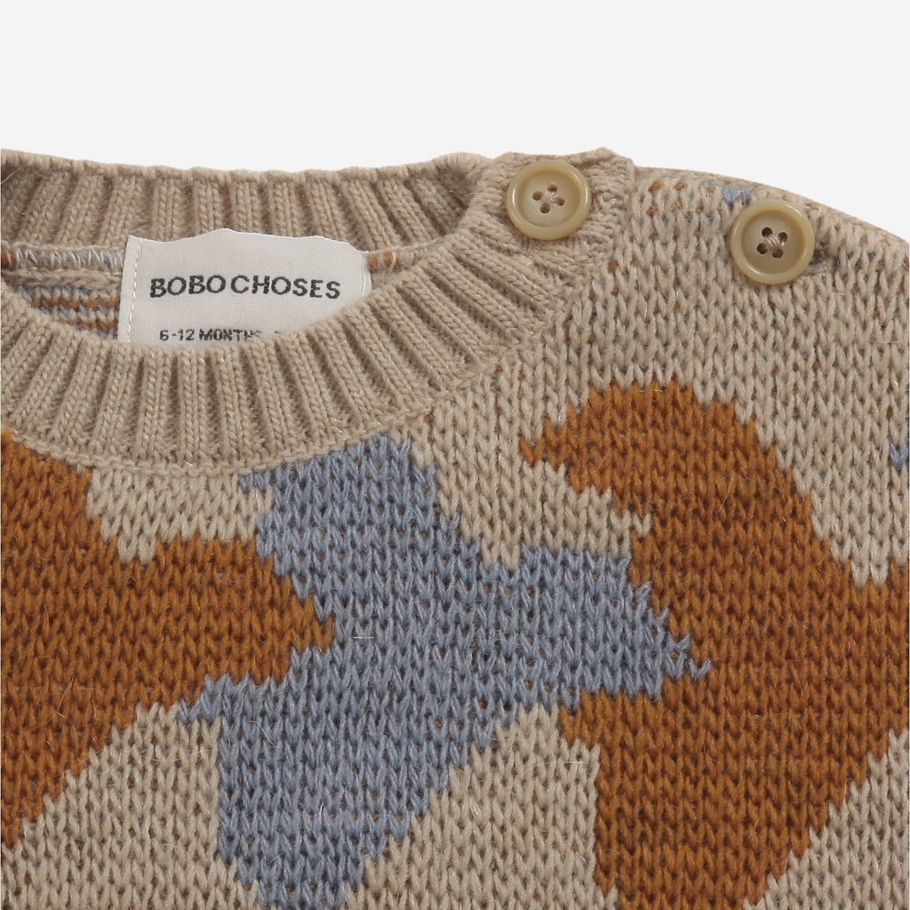Bobo Choses Birds All Over knitted jumper