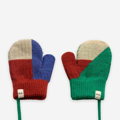 Bobo Choses Geometric knitted mittens