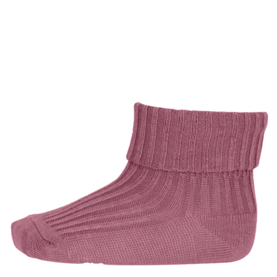 MP Denmark Cotton Rib Baby Socks Soft Mauve