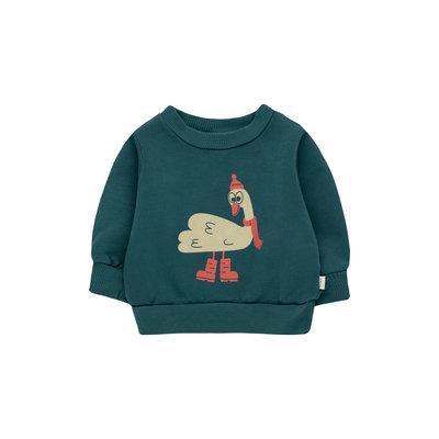 Tinycottons Swan Explorer Baby Sweatshirt