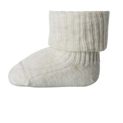 MP Denmark Cotton Rib Baby Socks Creme Melange