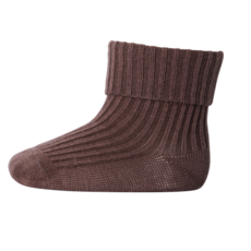 MP Denmark Cotton Rib Baby Socks Brown Sienna