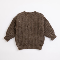 Play Up Tricot Sweater Coffee