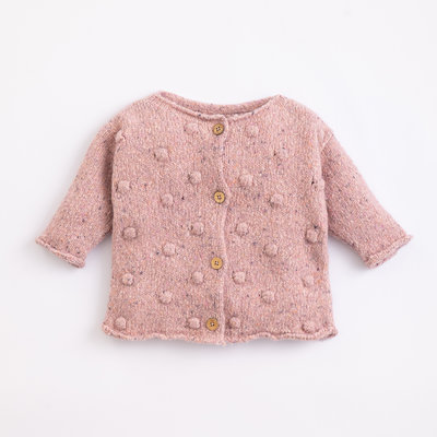 Play Up Knitted Cardigan Cor De Rosa