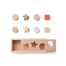 Liewood Midas Puzzle Box Geometric Tuscany Rose Multi Mix