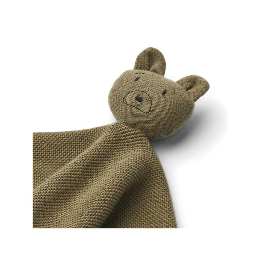 Liewood Milo Knit Cuddle Cloth Mr Bear Kahki