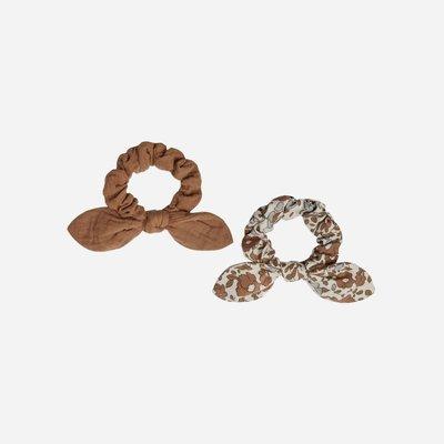 Rylee + Cru Scrunchie Set Rust Beige