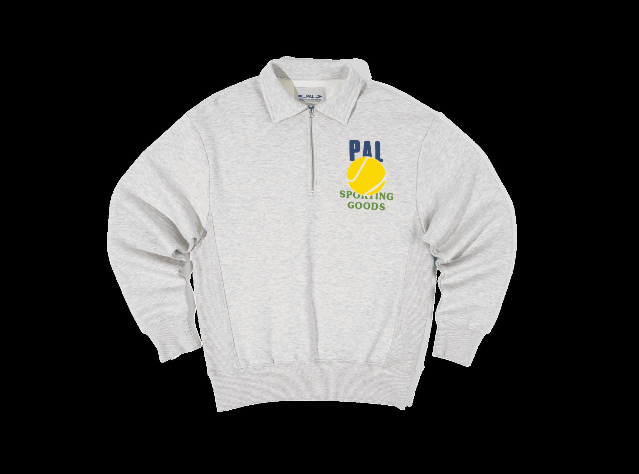 PAL League half zip light gray marl