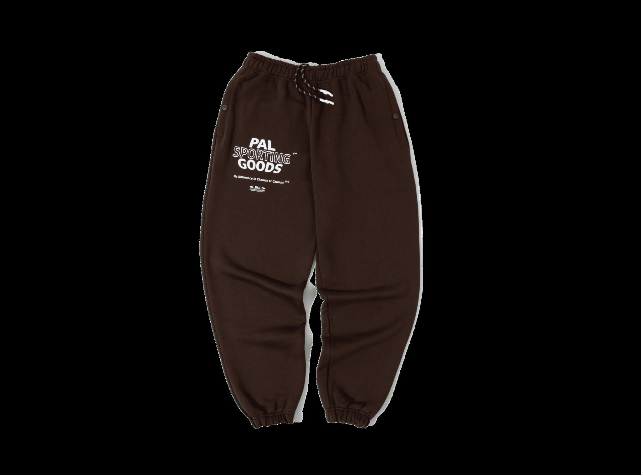 PAL Varsity sweatpants deep brown