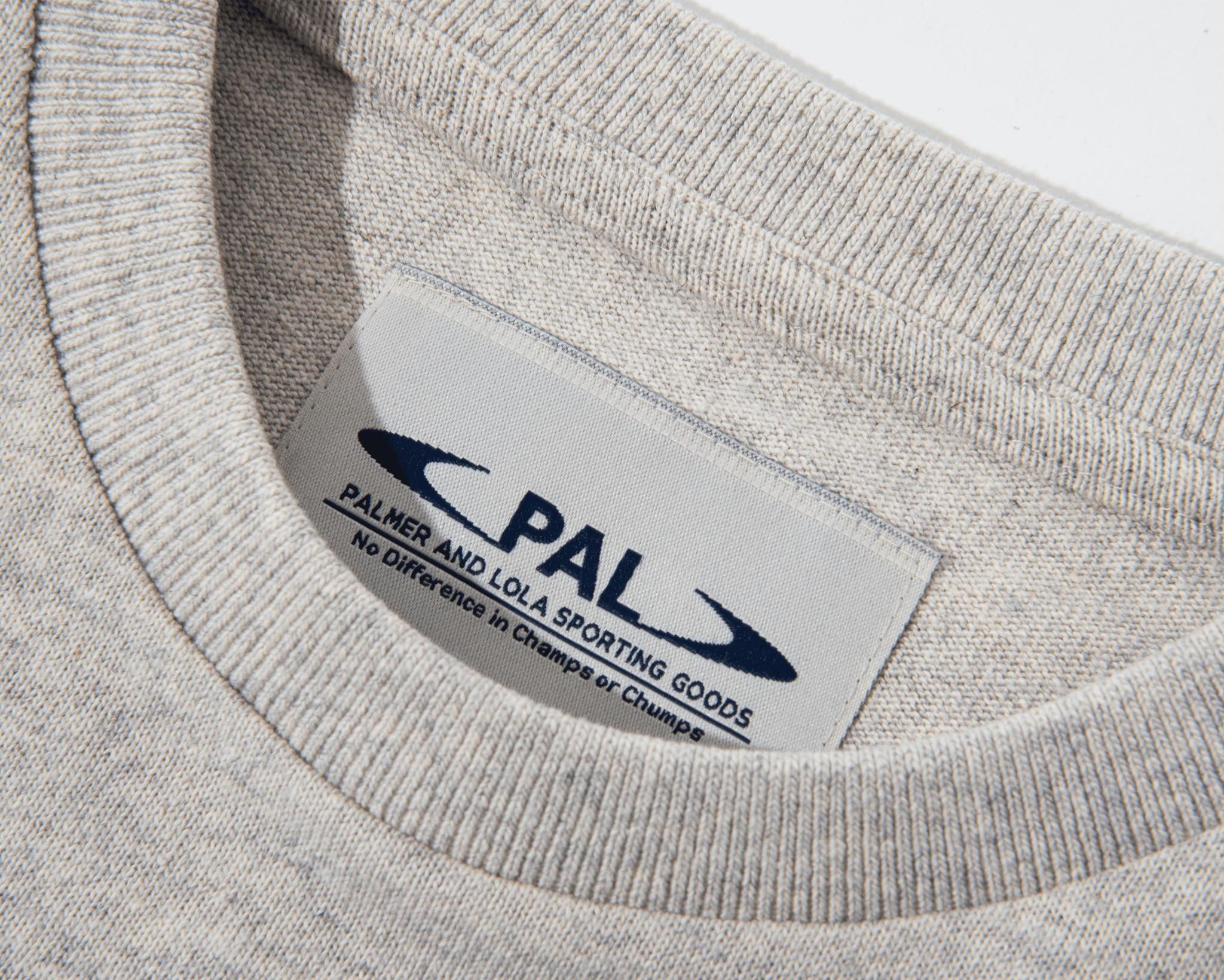 PAL Broadcast logo tshirt light gray marl