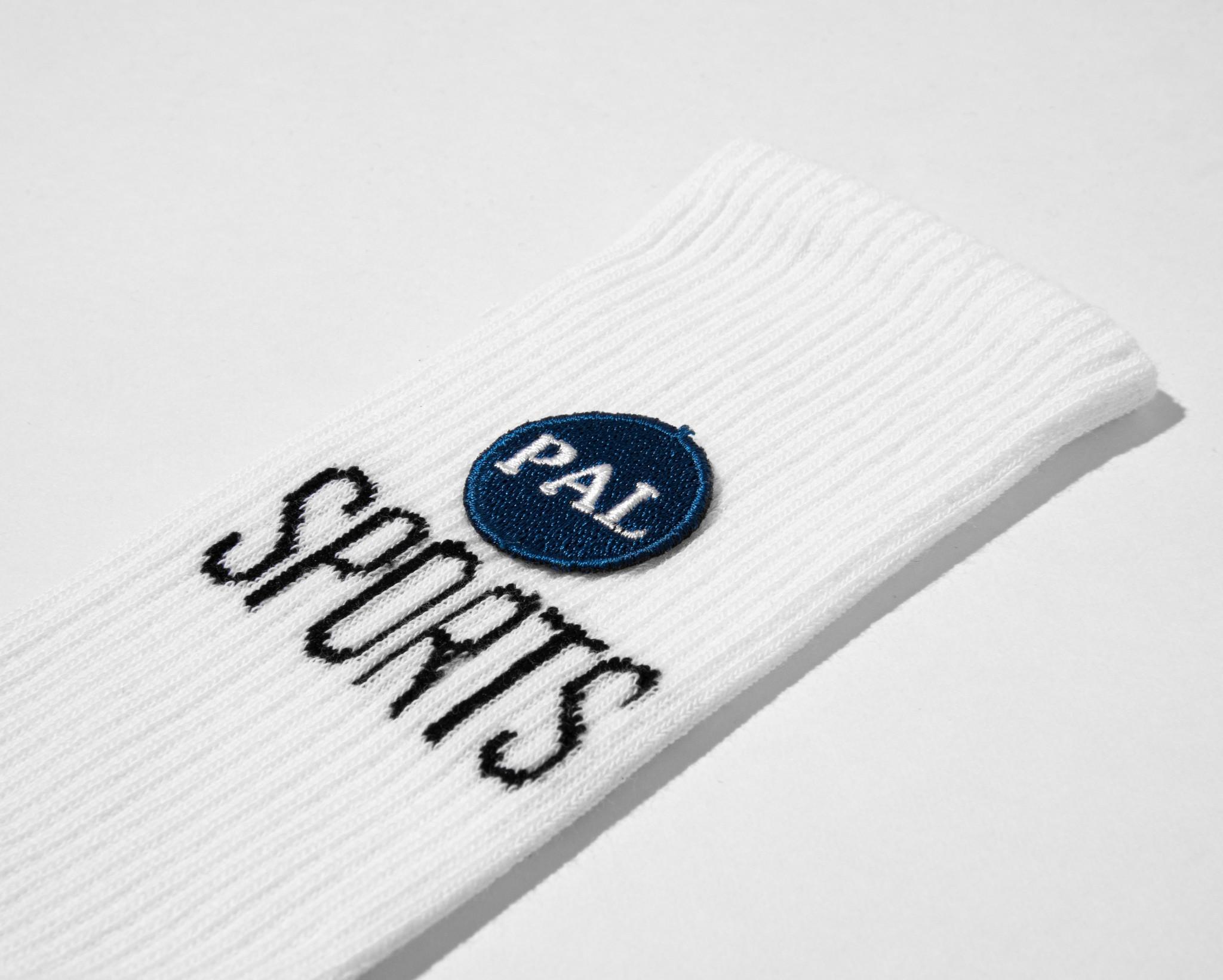 PAL patch logo sock white