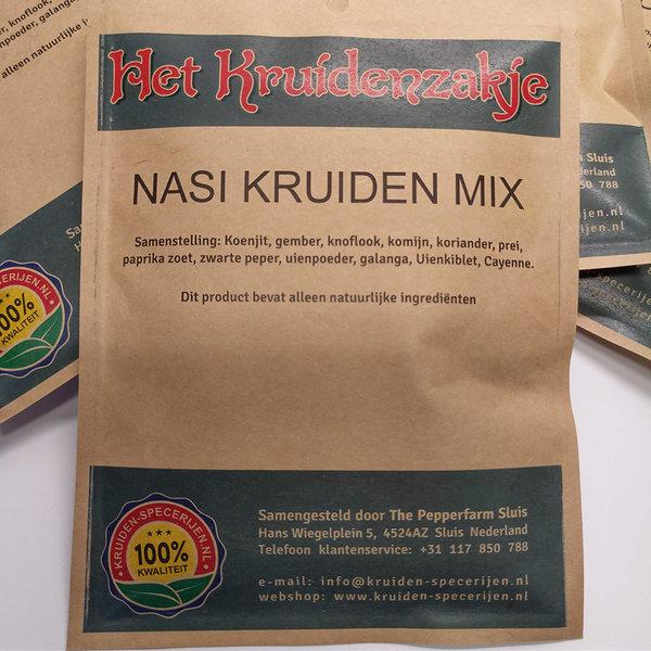KRUIDEN-SPECERIJEN.NL Nasi kruiden mix (zakje 50 gram)