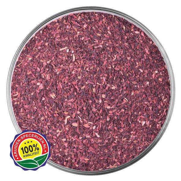 KRUIDEN-SPECERIJEN.NL Hibiscus bloemen fijn gesneden (BIO)