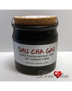 LOVE4TEA Instant Pu-erh Cha Gao thee in stenen potje met 50 gram