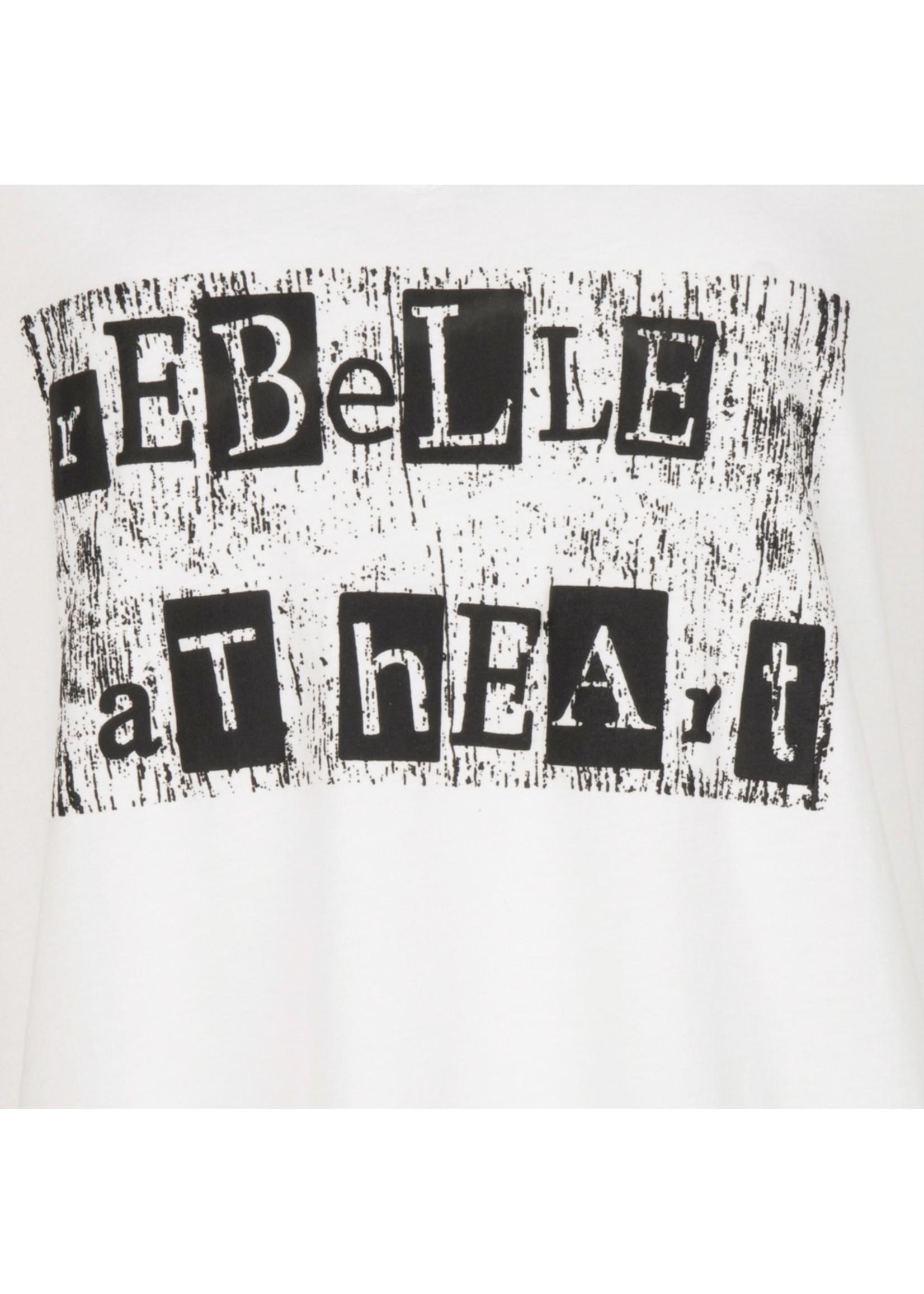 "Esqualo T-shirt ""Rebelle at heart"""