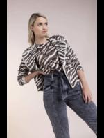 Anna SHIRT MET ANIMALDESSIN Offwhite-White Base Dessin