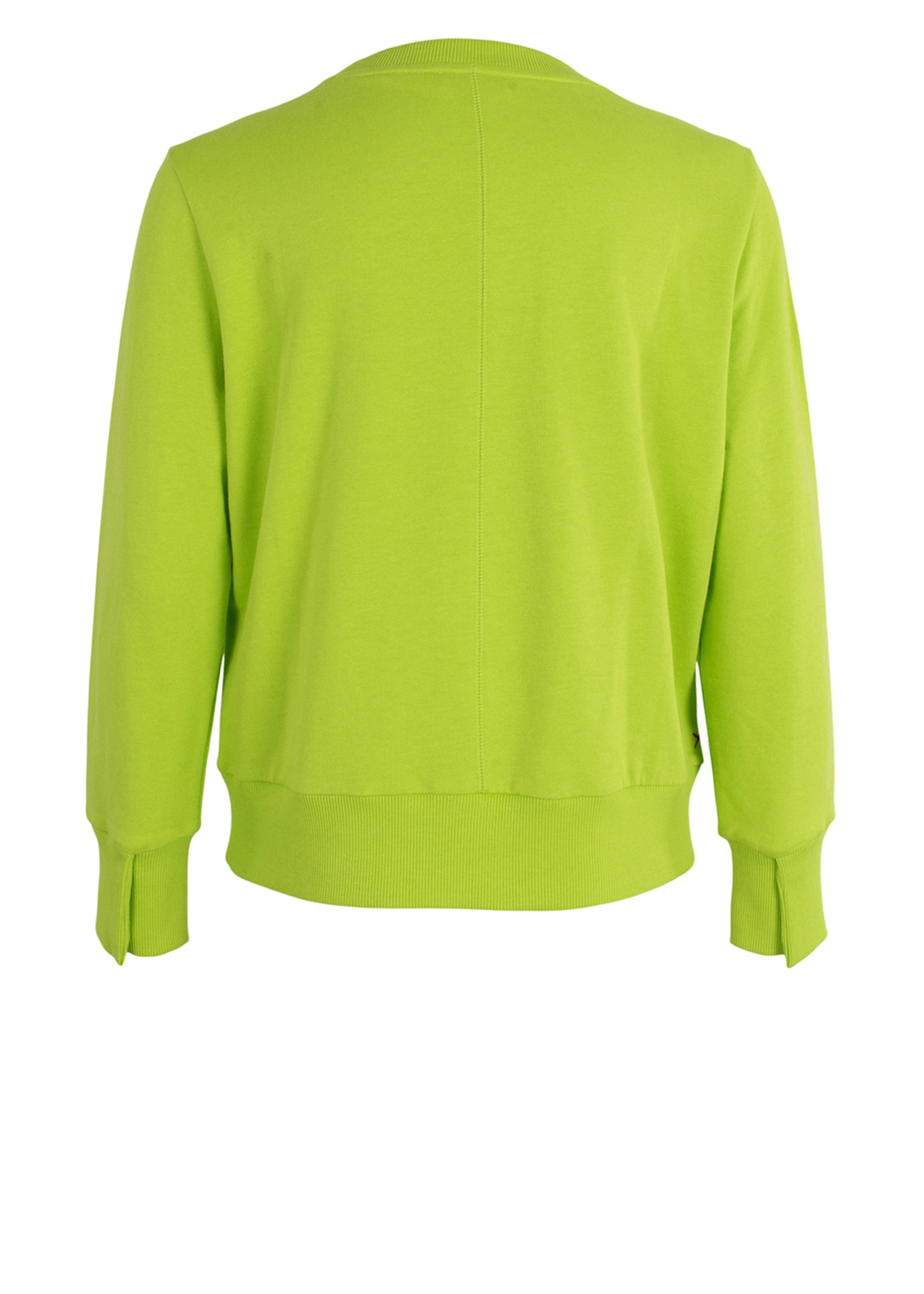 Anna Blue SWEATER Fluor Yellow Solid
