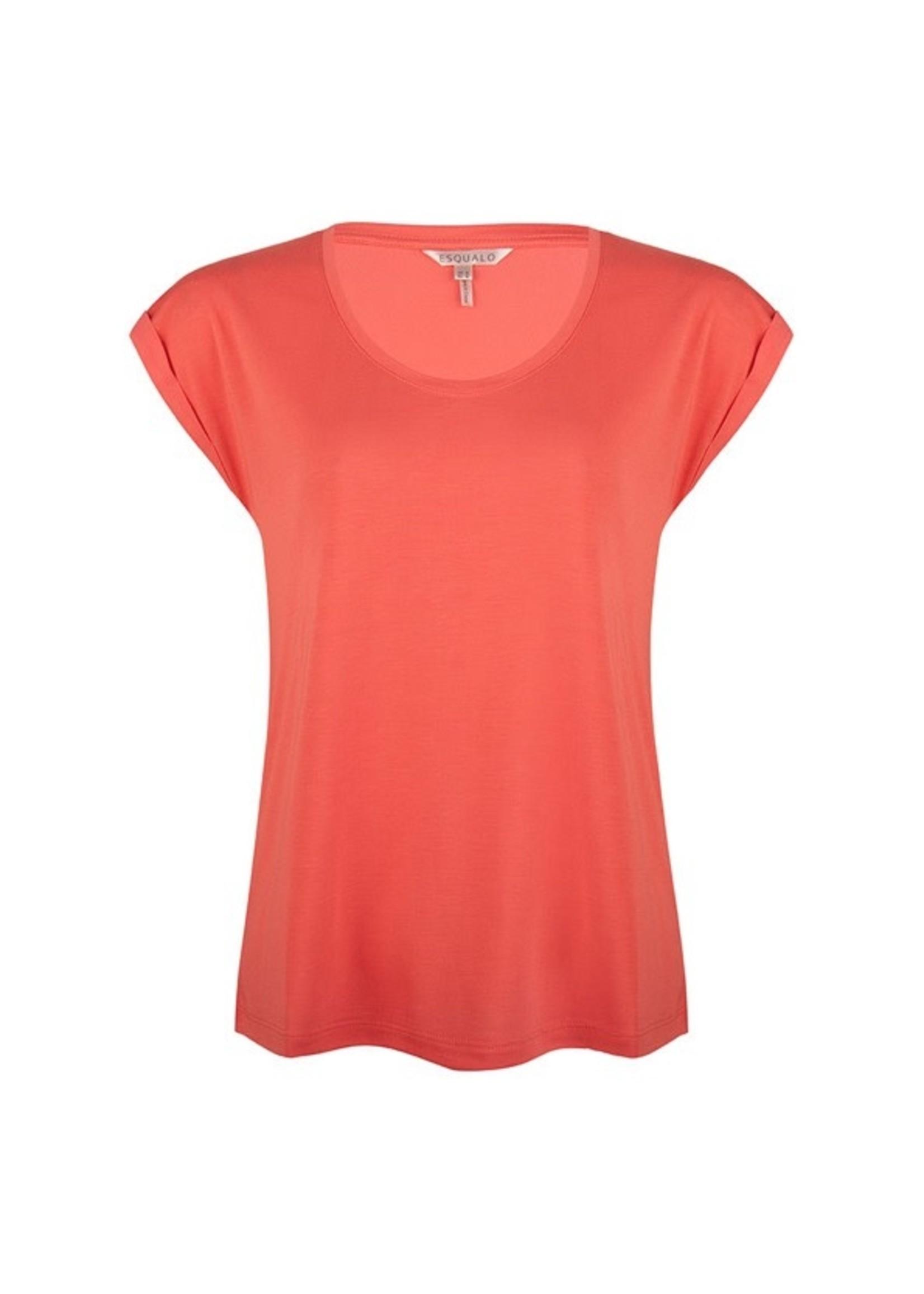 Esqualo T-shirt turn up sleeve