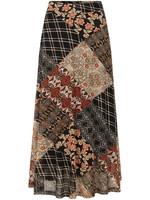 Tramontana Skirt Midi Mesh Quilty Print