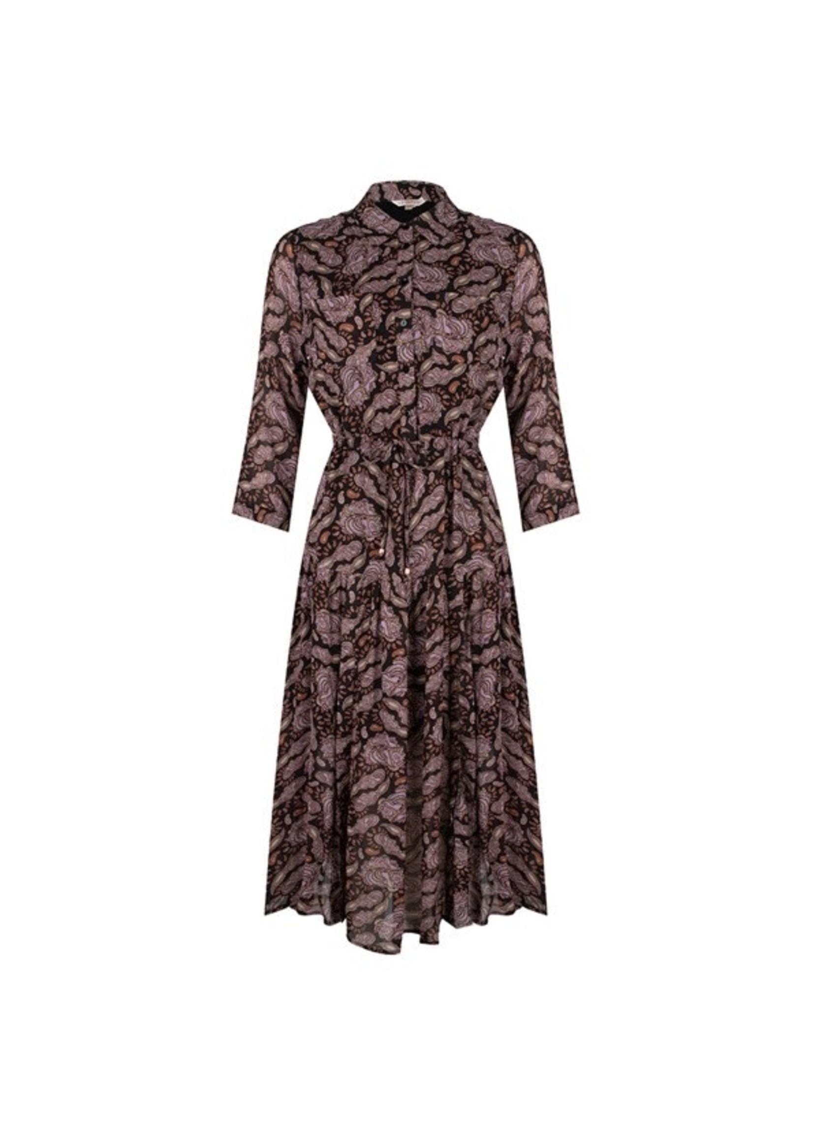 Esqualo Dress midi Purple paisley