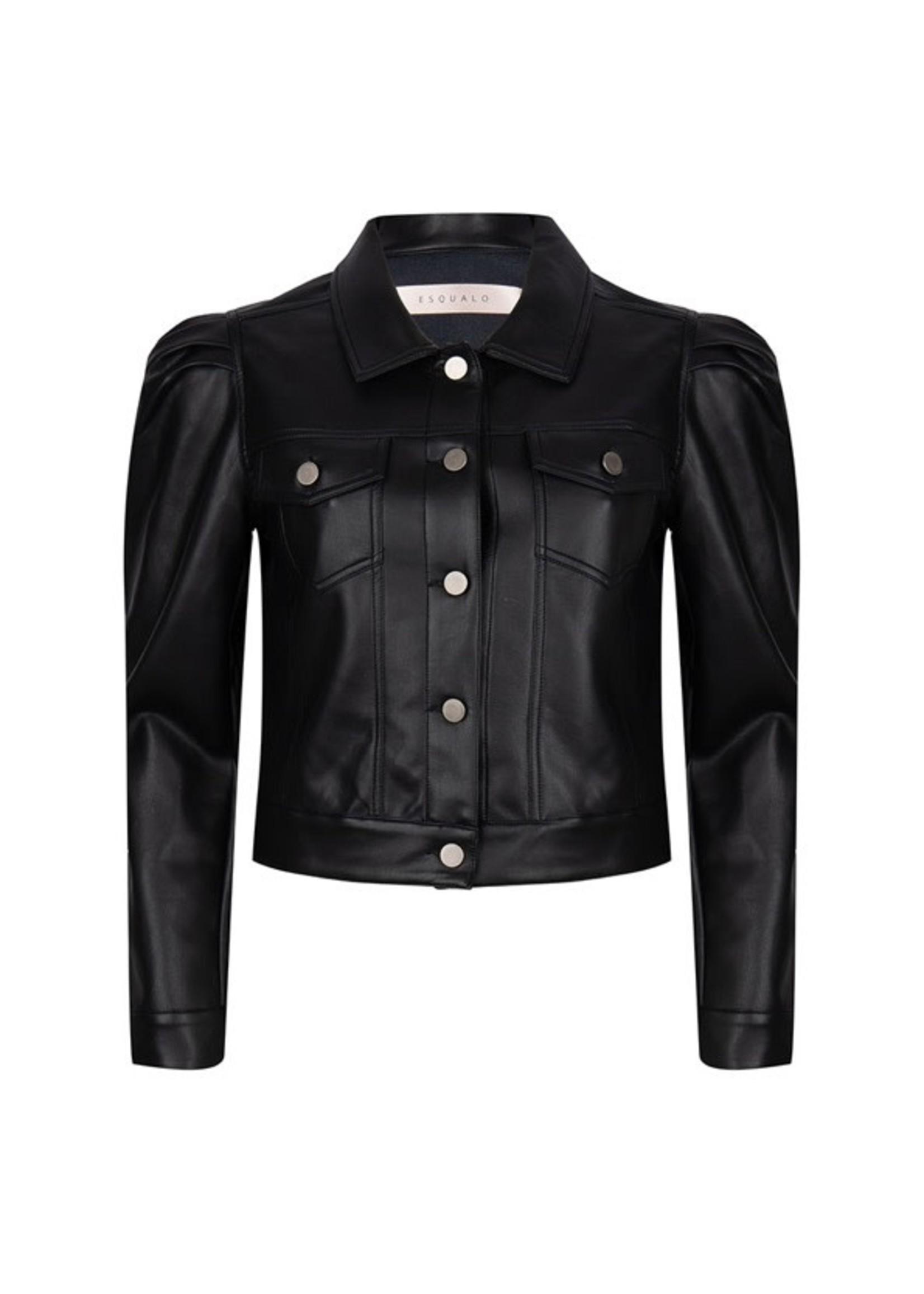Esqualo Jacket puff slv PU Black