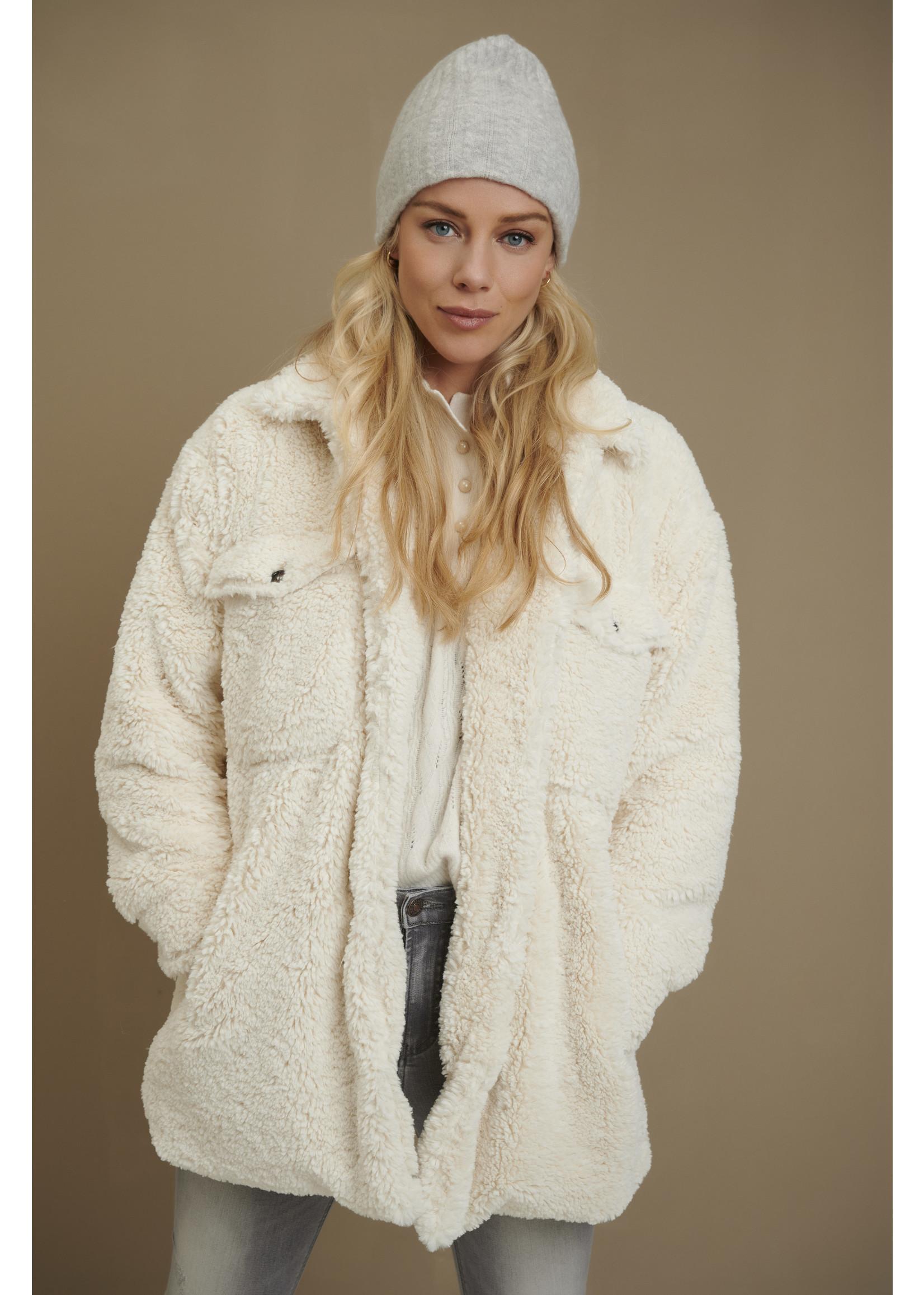 Esqualo Coat short teddy OffWhite
