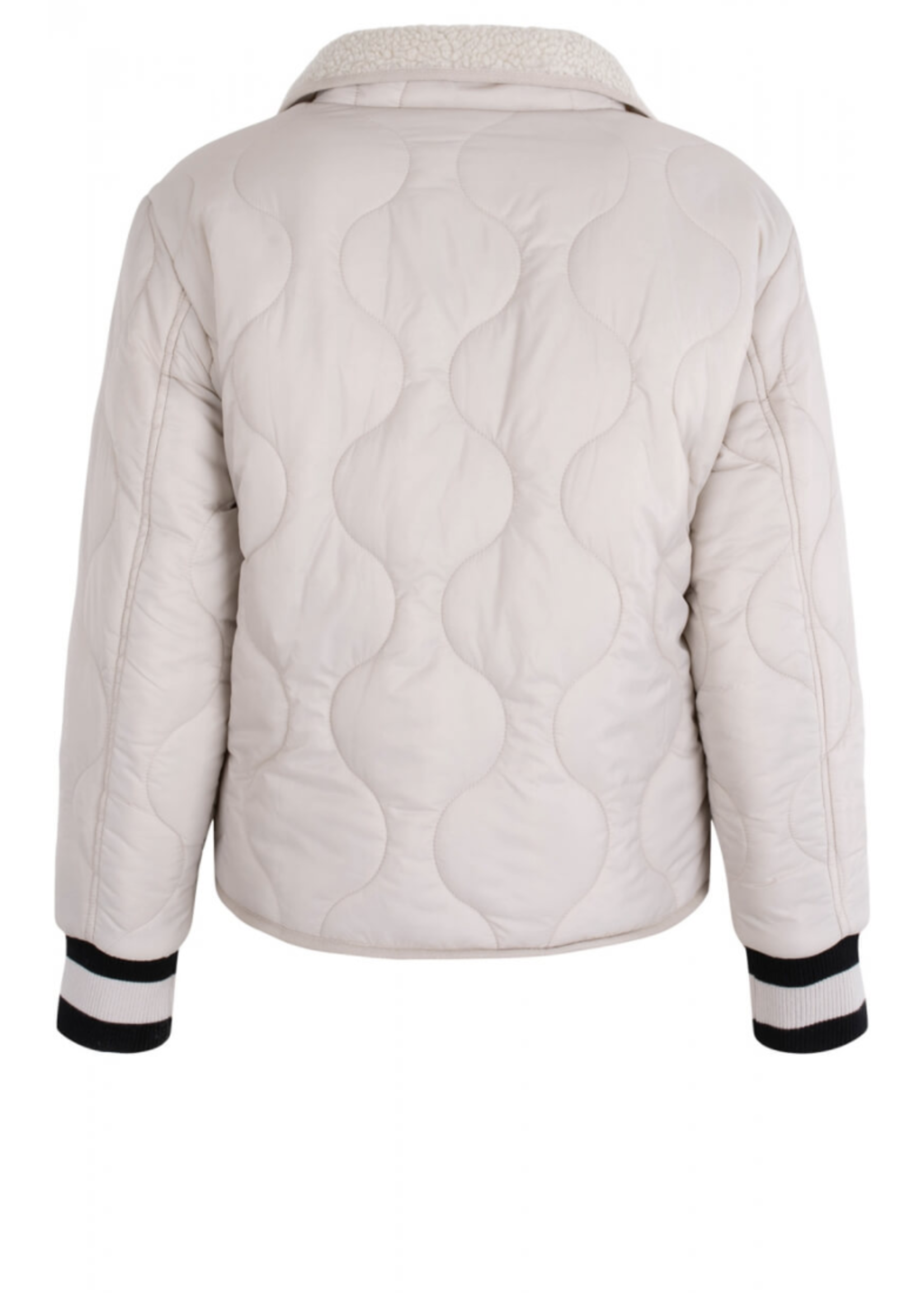 Anna Blue Teddy Bomber Reversible Chalk Solid