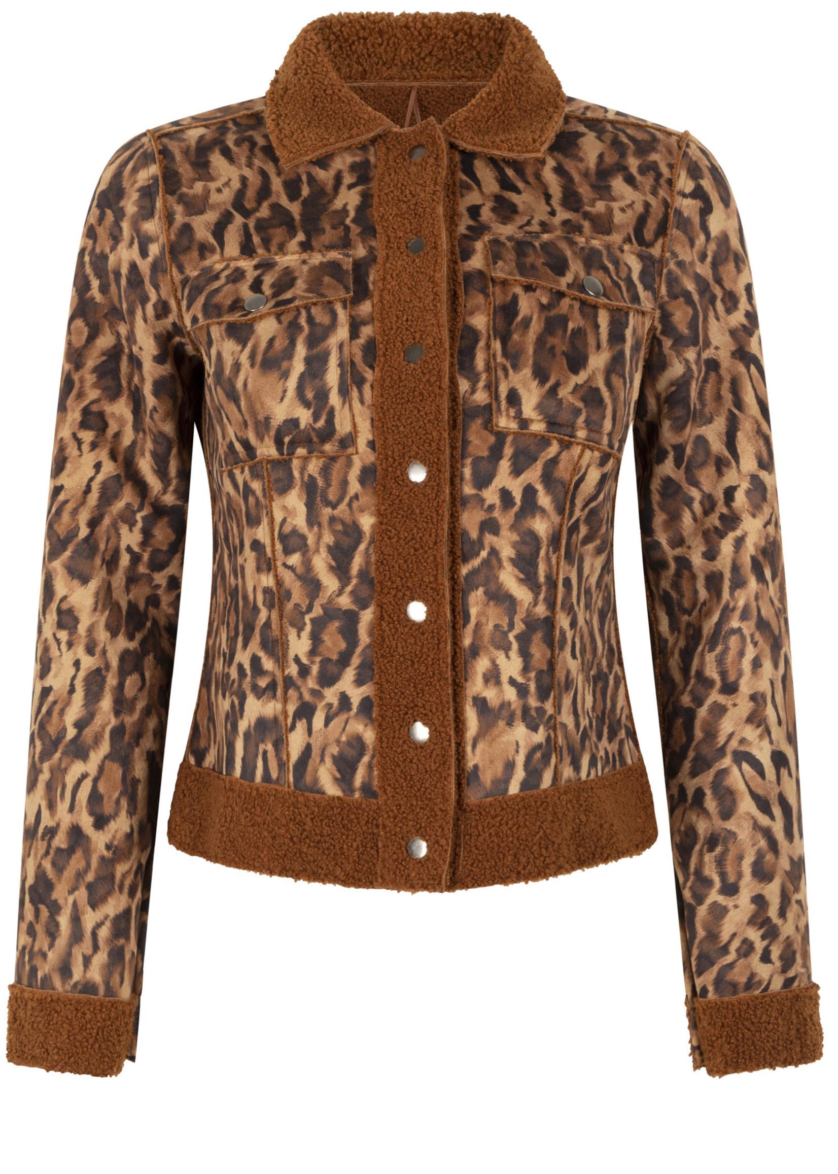 Tramontana Jacket Trucker Reversible  Teddy Hazelnut / Leopard