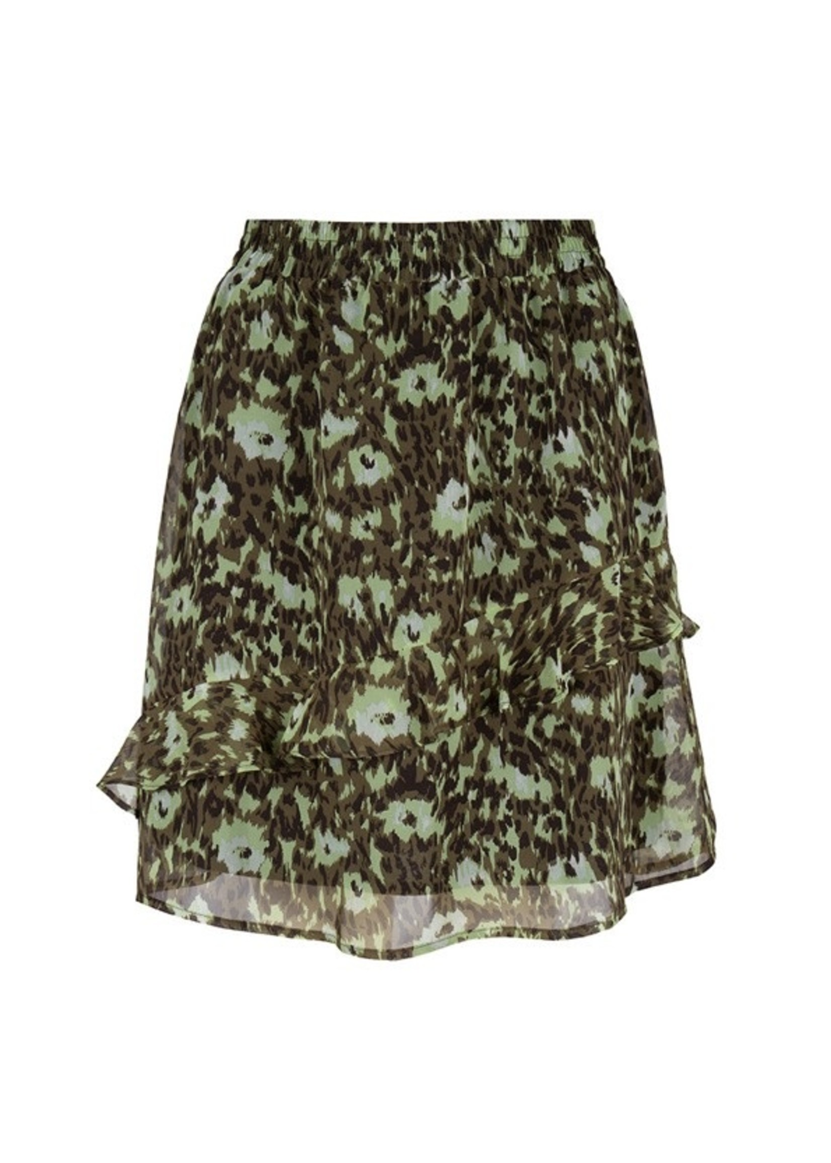 Esqualo Skirt ruffles abstract animal