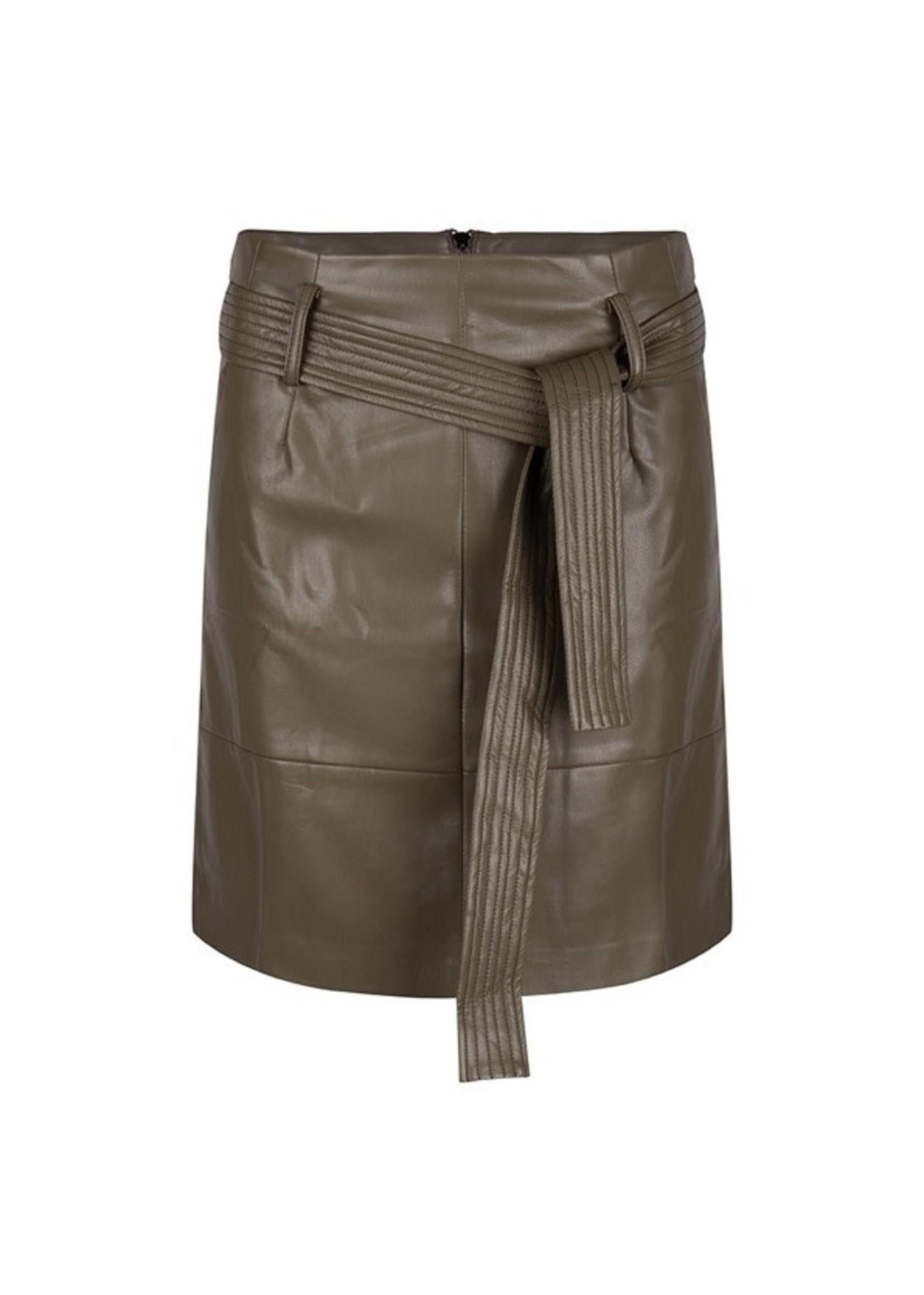 Esqualo Skirt short belt PU
