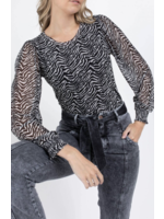 Anna T-shirt met lange mouw Wool White Dessin