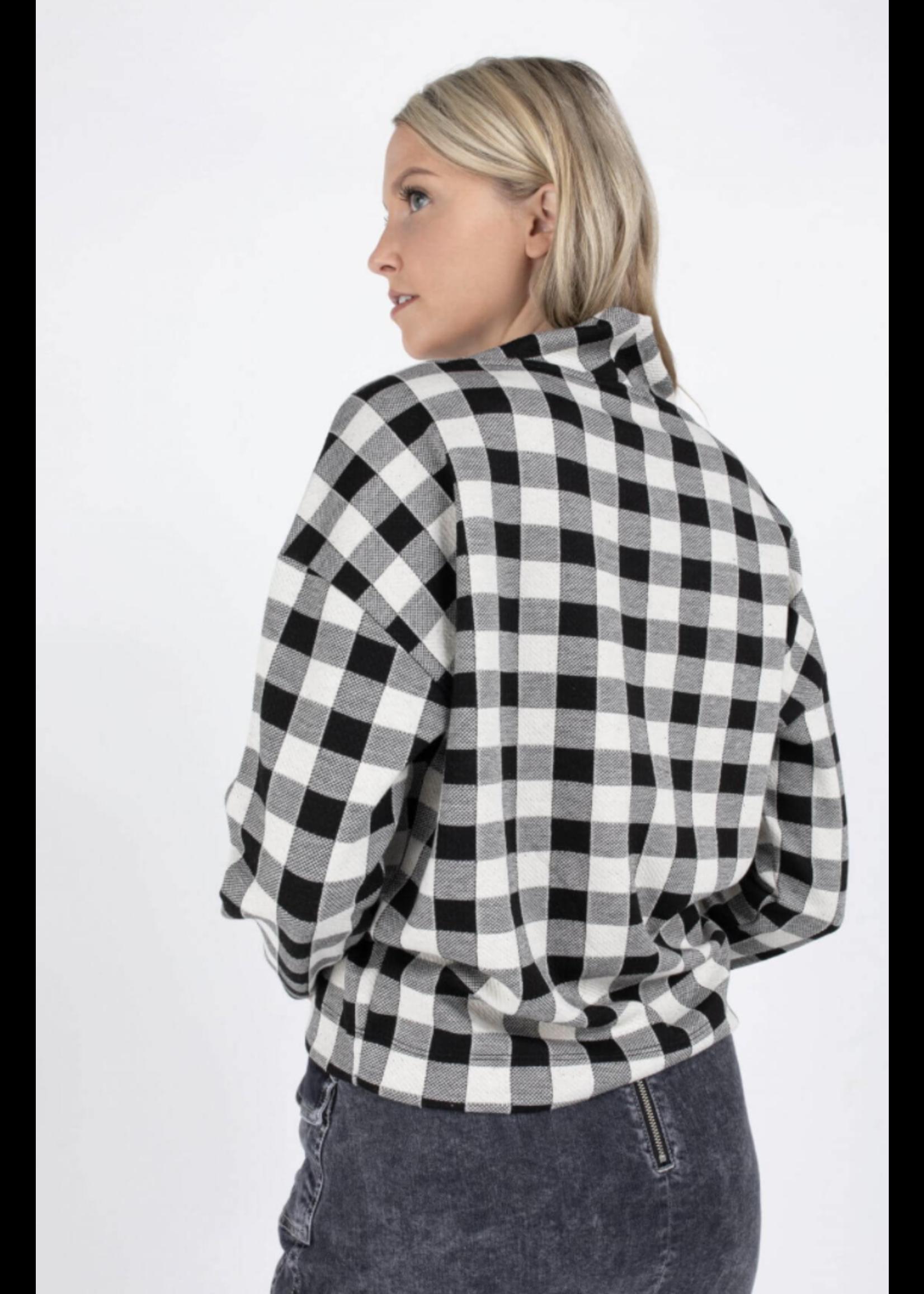 Anna Sweatshirt met lange mouw Wool White Check