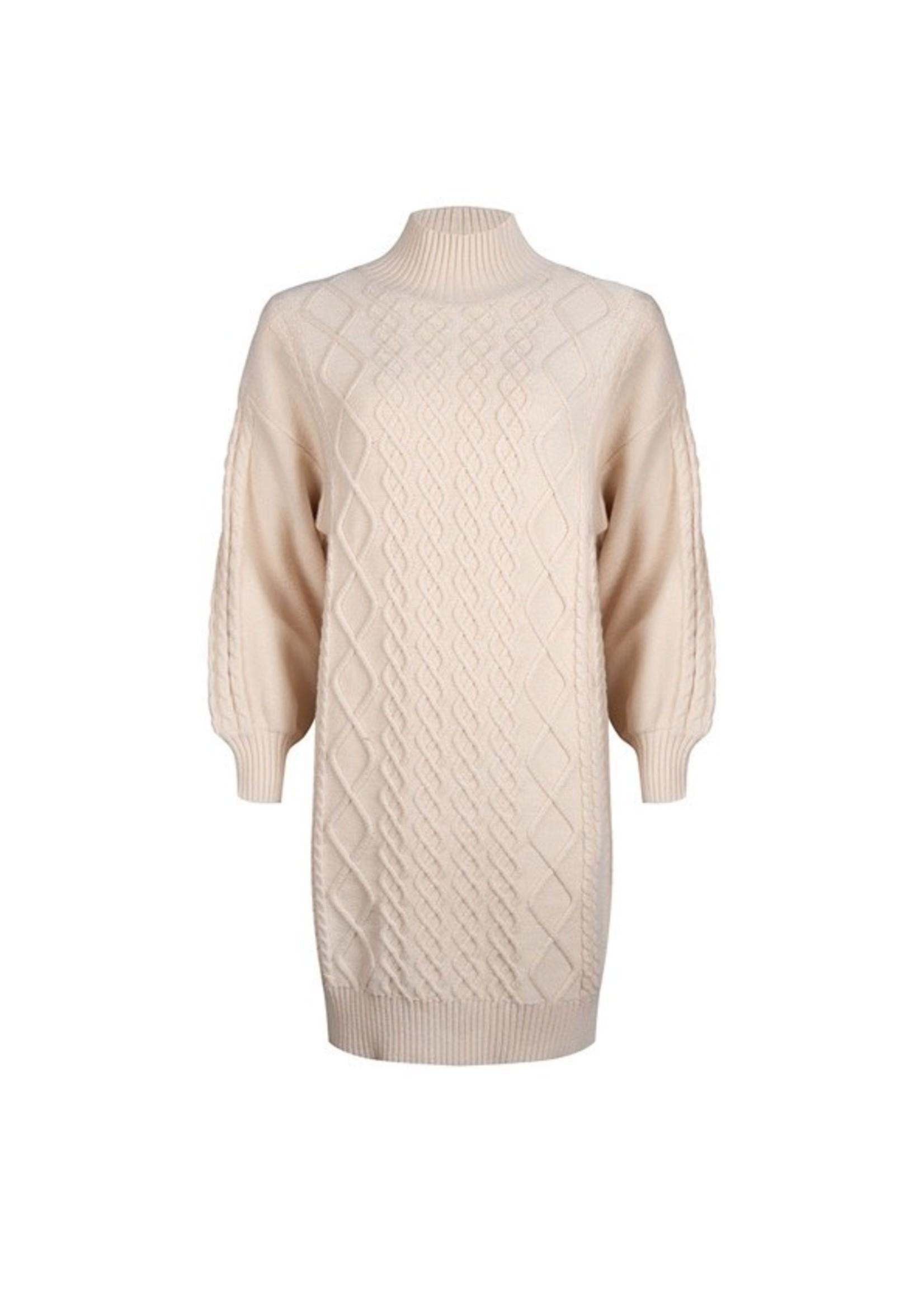 Esqualo Dress cable knit Beige