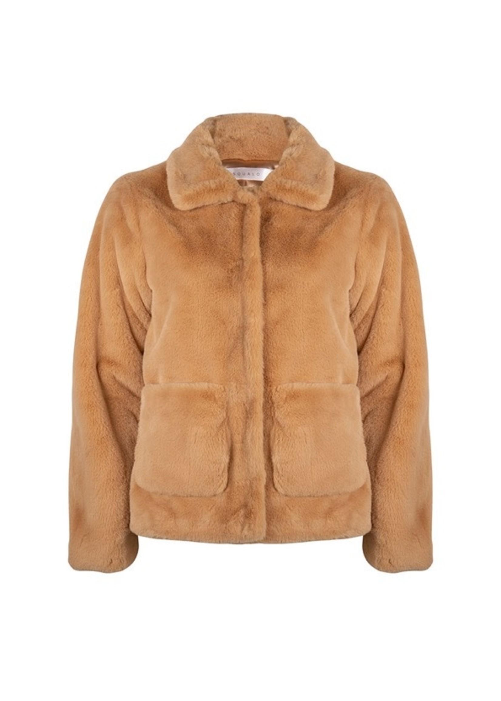 Esqualo Coat short fake fur Marron