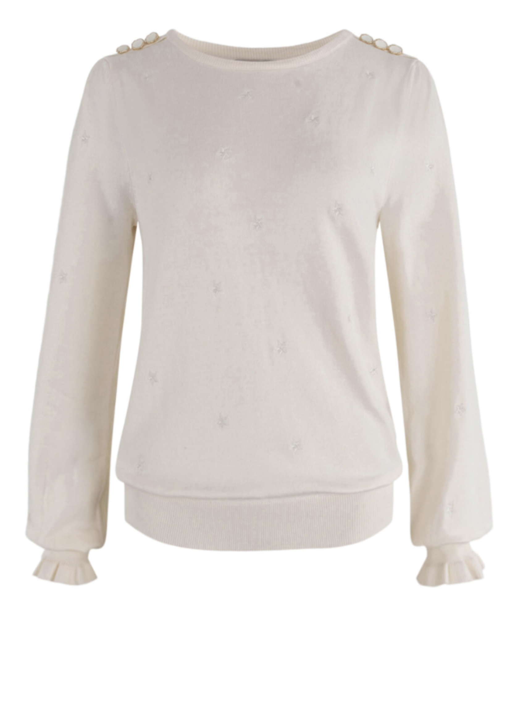 Anna Pullover Wool White Solid