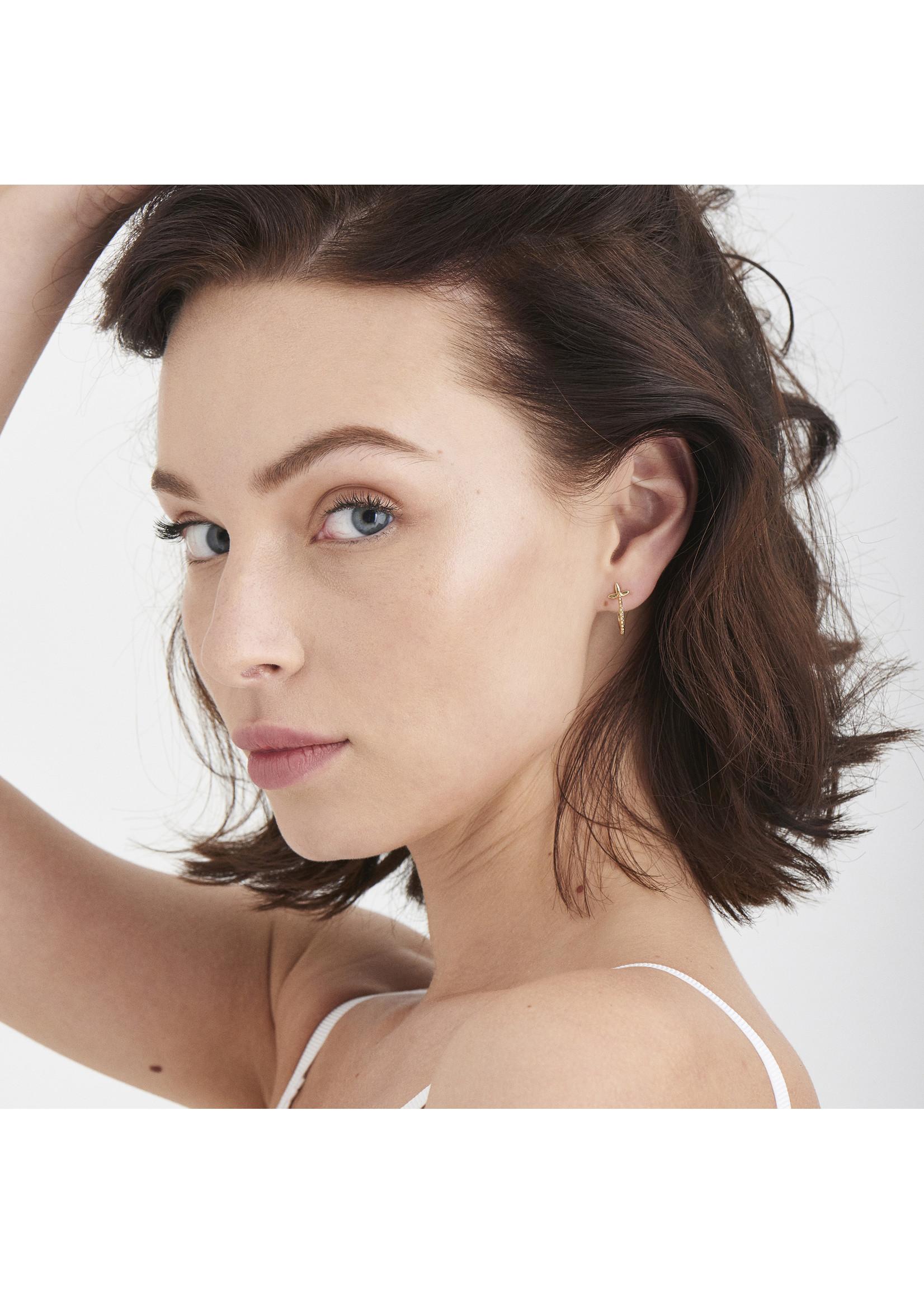 Ania Haie GOLD MODERN BEADED HOOP EARRINGS