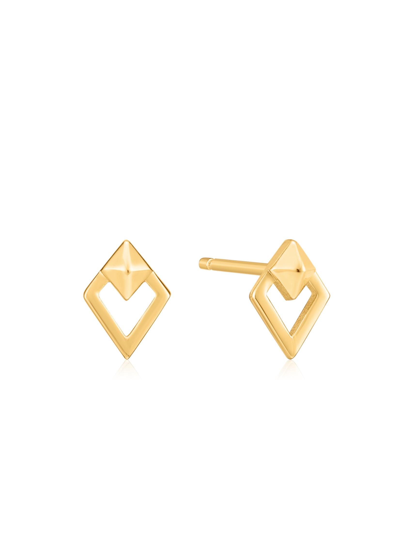 Ania Haie GOLD SPIKE DIAMOND STUD EARRINGS