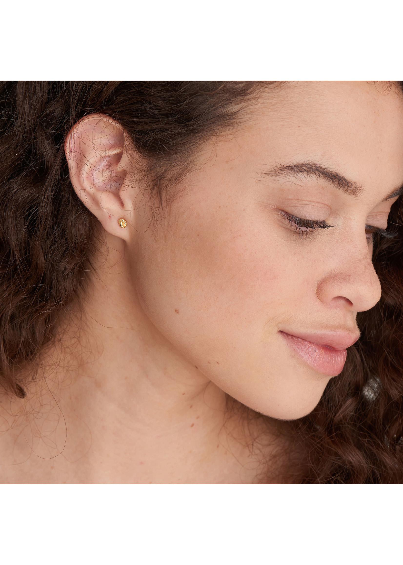 Ania Haie GOLD KNOT STUD EARRINGS