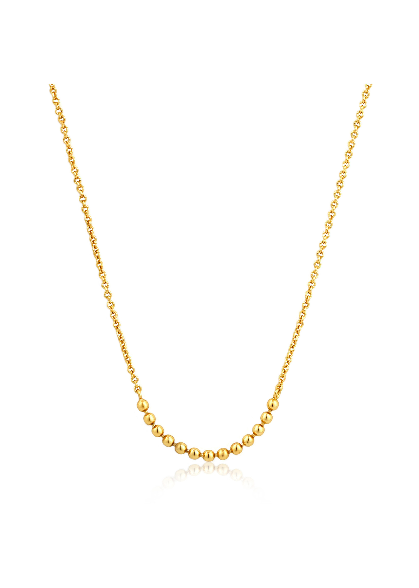 Ania Haie GOLD MODERN MULTIPLE BALLS NECKLACE