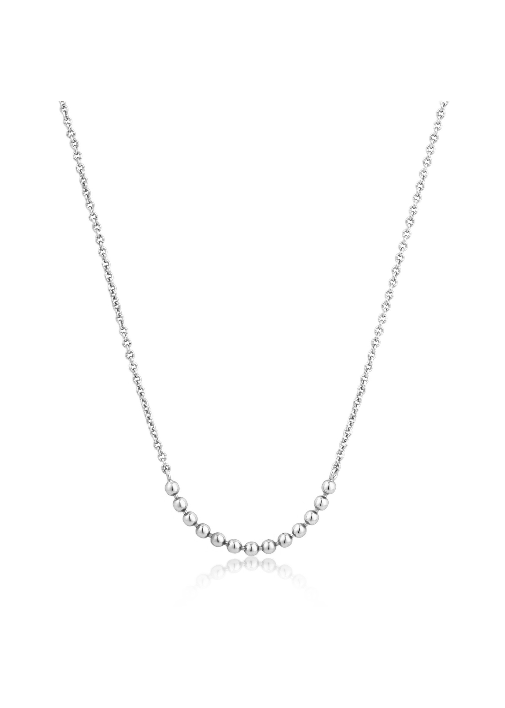 Ania Haie SILVER MODERN MULTIPLE BALLS NECKLACE