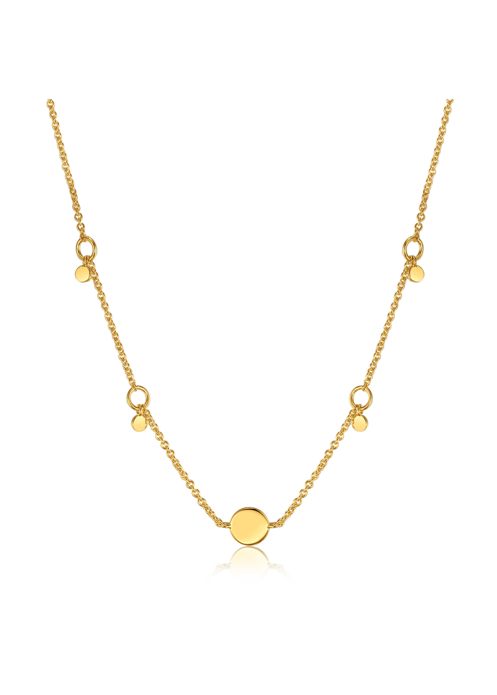 Ania Haie GOLD GEOMETRY DROP DISCS NECKLACE