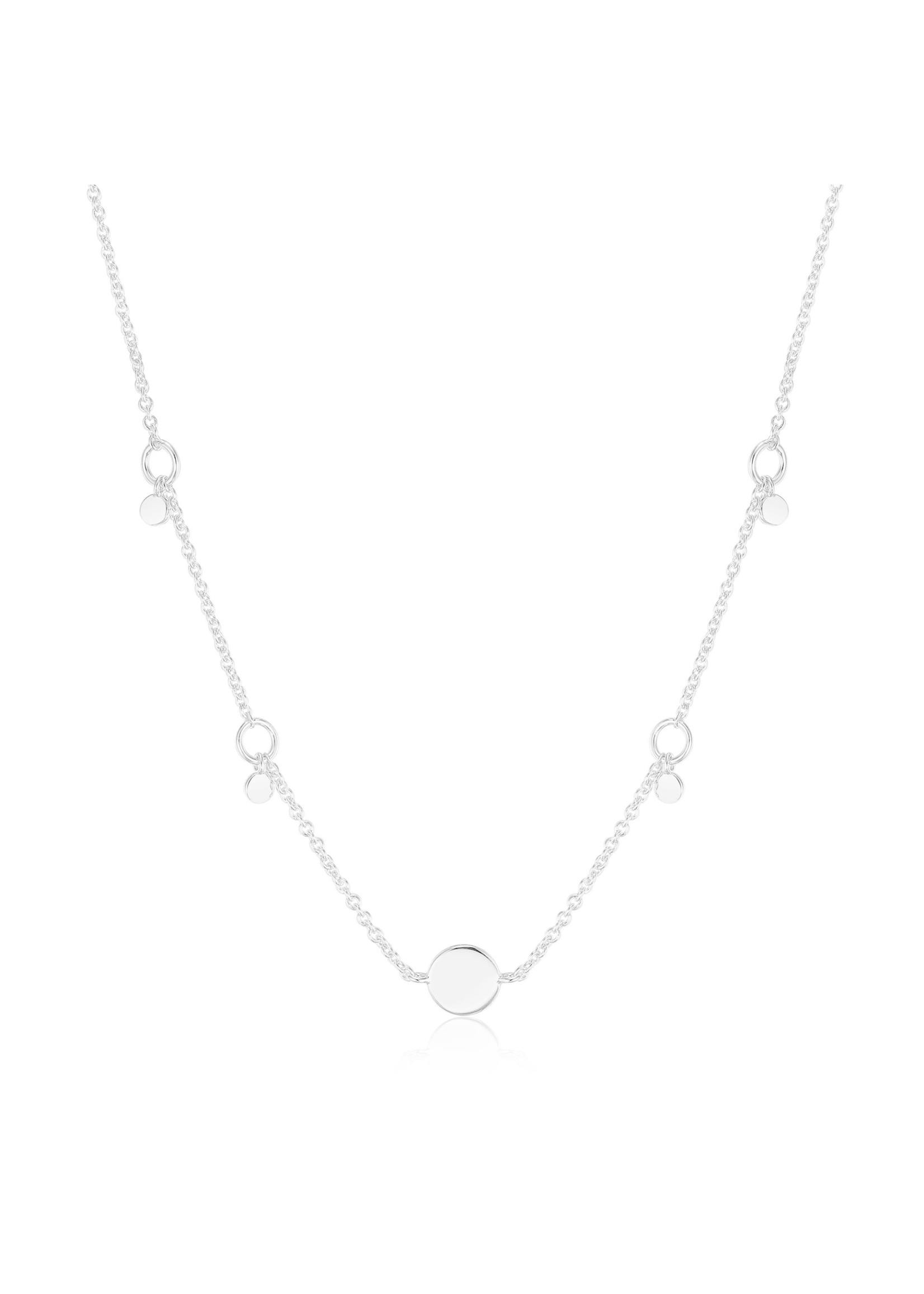 Ania Haie SILVER GEOMETRY DROP DISCS NECKLACE