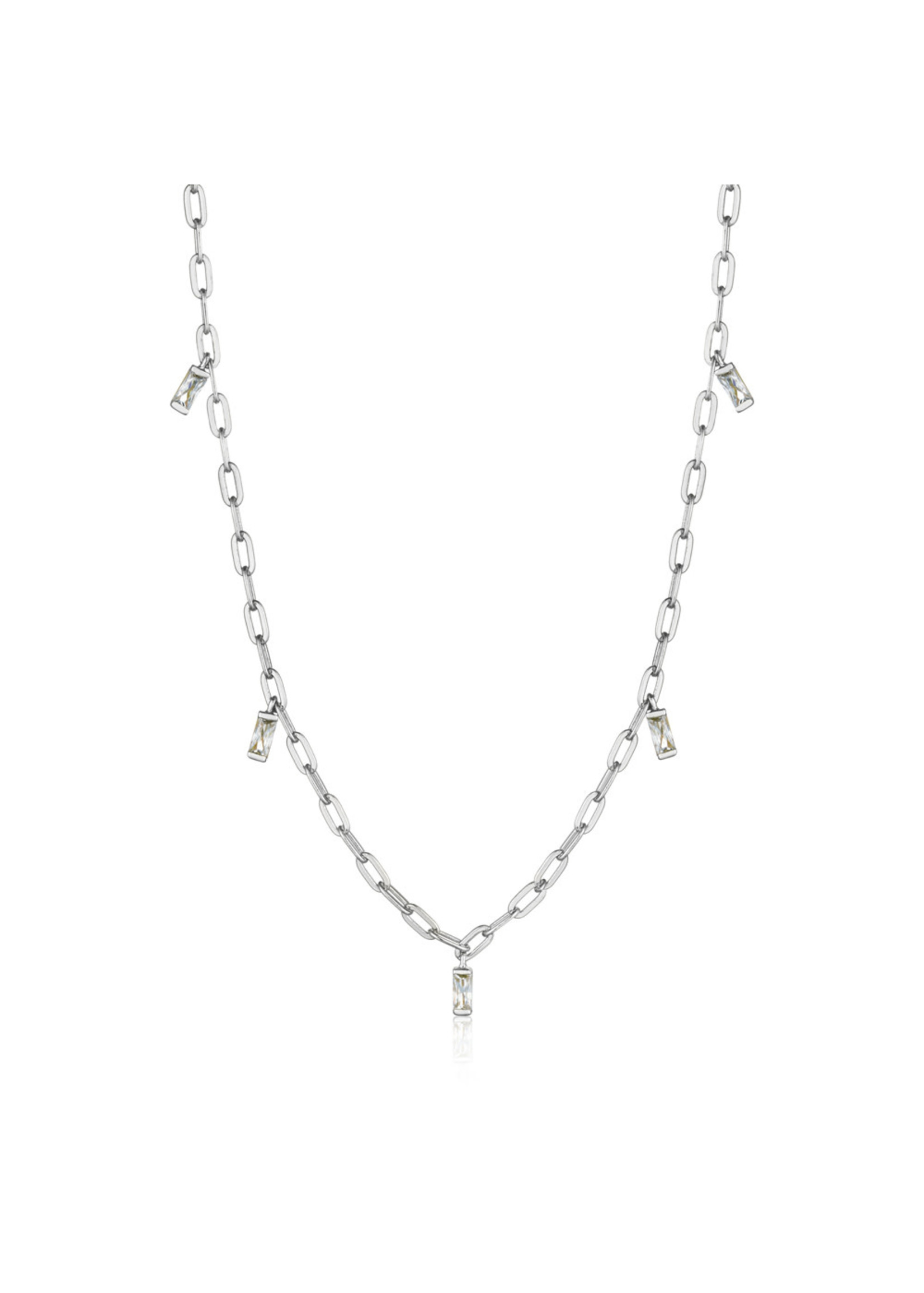 Ania Haie SILVER GLOW DROP NECKLACE