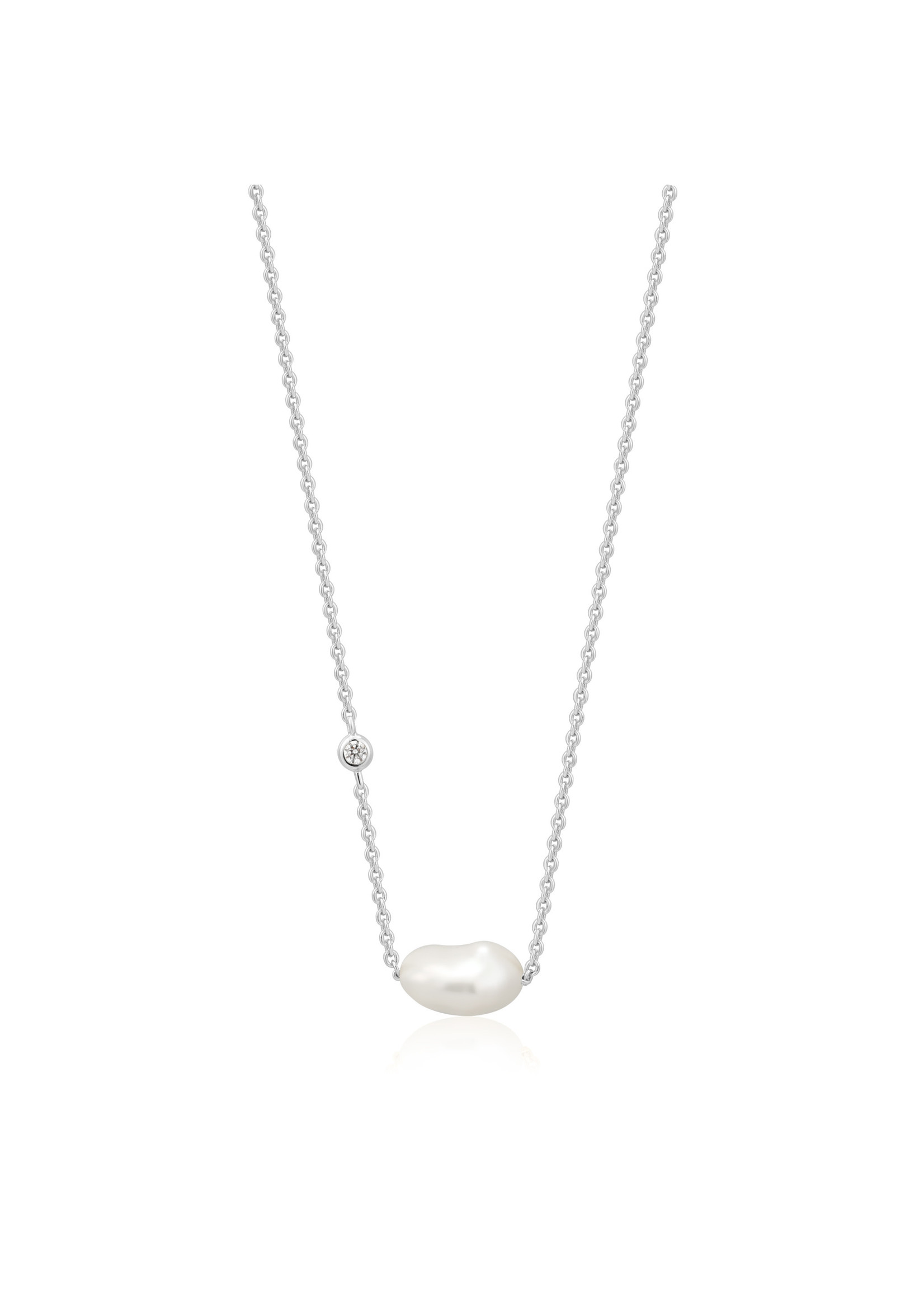 Ania Haie SILVER PEARL NECKLACE