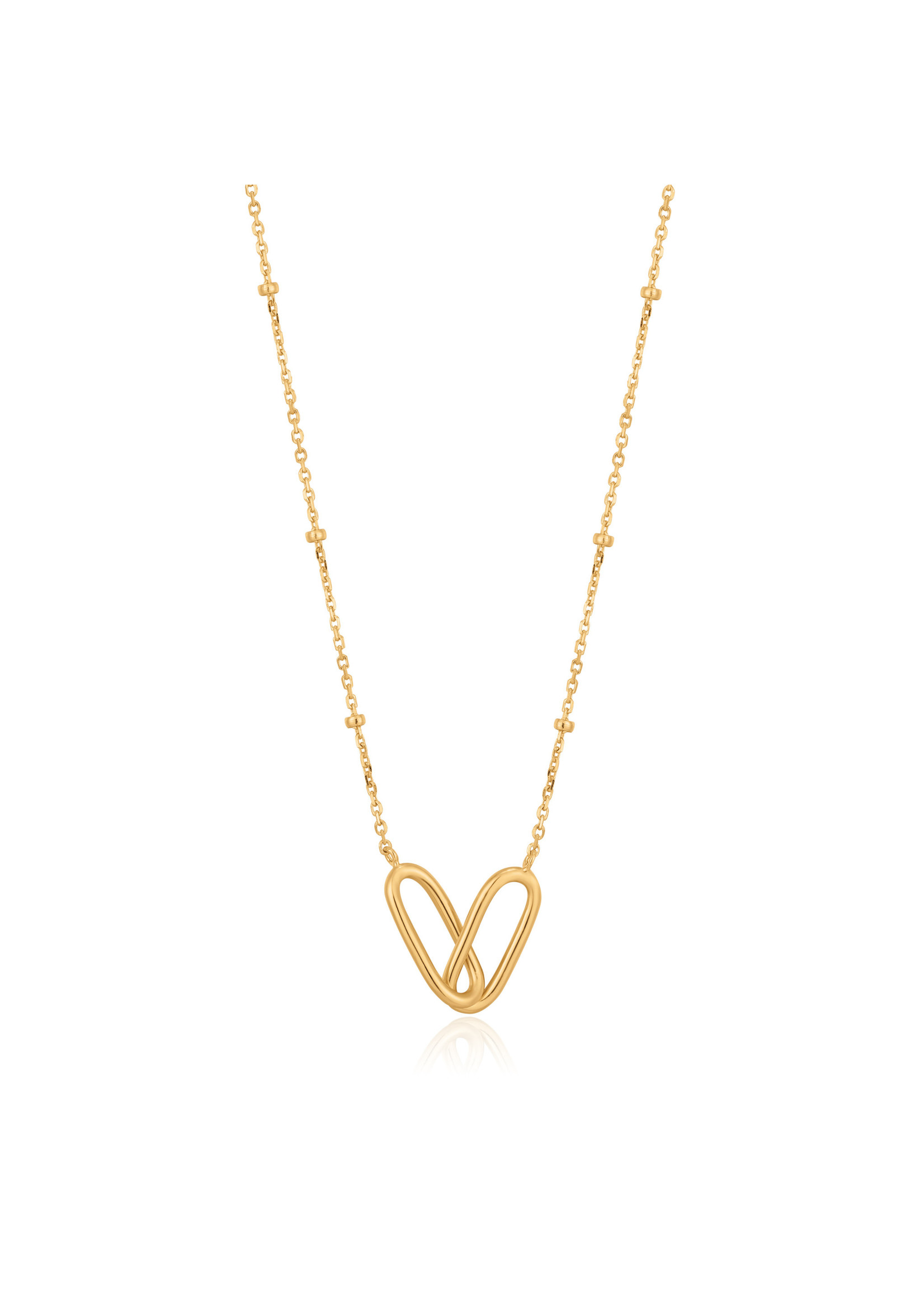 Ania Haie GOLD BEADED CHAIN LINK NECKLACE